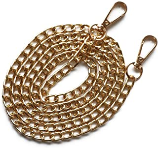 Gold with 2 Metal Buckles Searea 55 2PCS Iron Flat Chain Strap Handbags Accessories Replacement Chains for Wallet Purse Straps Shoulder Straps
