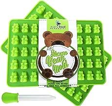 Premium Gummy Bear Mold 2 Pack - Bonus Dropper - 100 Bears on Trays, Recipe Pdf - Silicone Molds 100% Food Grade Bpa Free Fda Approved Candy Chocolate & Gelatin Maker