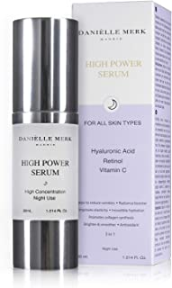 Danielle Merk High Power Serum Facial Serum Facial Anti ageing, Antispots Treatment with Retinol, Vitamin C and Pure Hyalu...