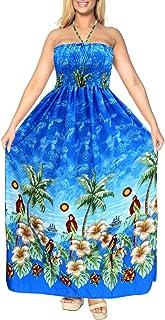 LA LEELA Frauen Lange Schlauchkleid Strand Schwimmen Bikini Maxi 1895