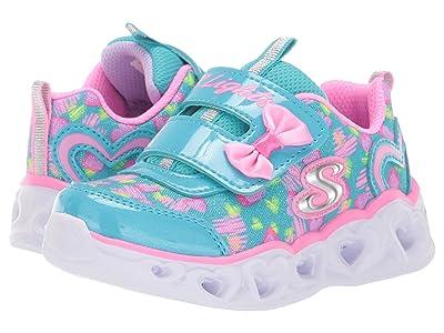 SKECHERS KIDS Heart Lights 20264N (Toddler) (Turquoise/Pink) Girl