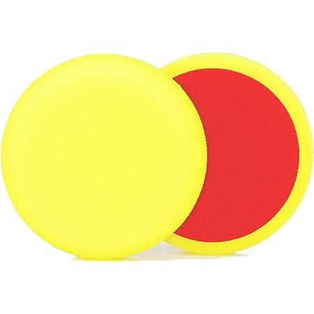 Alclear 50163m Polierpad Auto Polierschwämme Medium Für Rupes Poliermaschine Durchmesser 163 150x30 Mm Gelb 2er Set Polierpad Polierschaum Yellow Auto