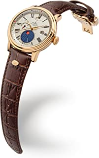 Kronsegler - Kopernikus - Reloj automático (chapado en oro, plata envejecida, con luz solar)