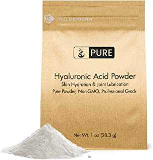 Hyaluronic Acid Powder (1 oz) by Pure Organic Ingredients, Highest Purity, Food & Cosmetic Grade, Skin Care, Eco-Friendly ...