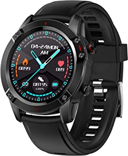 Smart Sports Watch, JHZL G20 1.28 inch IPS Screen Smart Watch for Android and iOS Phones, Activity Tracker Smartwatch for Men with Sleep Monitor All-Day Heart Rate IP67 Waterproof (Black)