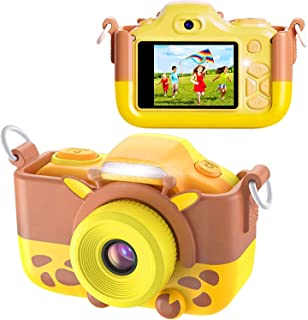BlueFire Kids Digital Camera Mini 2 Inch Screen 16MP HD Child Camcorder Rechargeable Front and Rear Selfie Digital Camera ...