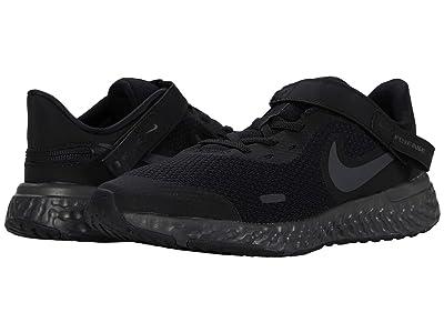 Nike Kids Flyease Revolution 5 (Big Kid) (Black/Black/Anthracite) Kids Shoes