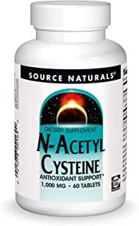 Source Naturals N-Acetyl Cysteine Antioxidant Support 1000 mg Dietary Supplement That Supports Respiratory Health - 60 Tab...