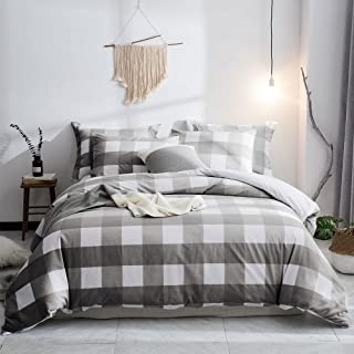 Merryfeel 100% Cotton Yarn Dyed Duvet Cover Set - Full/Queen Grey…