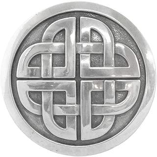Men's Snap-on Belt Buckle - Celtic Eternal Knot, Silver, One Size