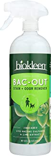 Biokleen Bac-Out Stain+Odor Remover Foam Spray, Destroys Stains & Odors Safely, for Pet Stains, Laundry, Diapers, Wine, Carpets, & More, Eco-Friendly, Non-Toxic, Plant-Based, 32 Ounces