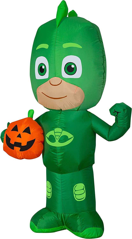 Gemmy Airblown Gekko with Jack O' Prop OFFicial shop Classic Decor Halloween Lantern D