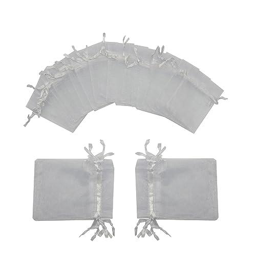 3X4 Ivory Color Rinas Garden Creations Organza Favor Bags Pk Of 120 by KINGWEDDING