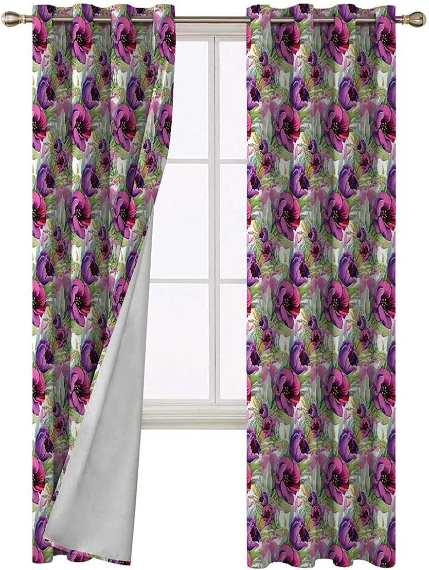 Kids Free Shipping Cheap Bargain Gift Blackout Curtains 96 Max 81% OFF Inch Flowers Romantic Valentines Long