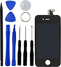 Eco-Fused Premium Replacement Digitizer and Touchscreen LCD compatible with Apple iPhone 4S – Replacement for AT&T and International Models - 10 Piece Kit for Replacement and Repair – Screen Protector