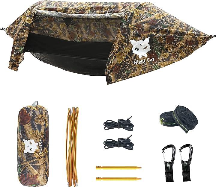Amaca tenda da campeggio con zanzariera e parapioggia per una persona night cat B08Q3Z213M