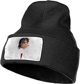 Fashion Trip-Pie Re-dd Knit Hat Winter Hats Knitted Unisex Warm Ski Hats Black