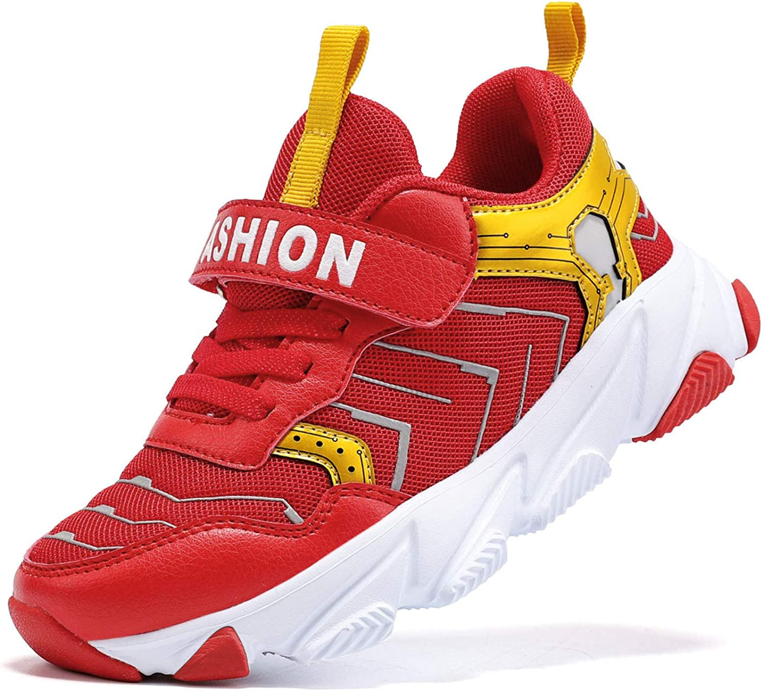 Boys Shoes Slip On Shoes for Boys Easy to Put On Kids Sneakers No Tie/Lace Boys Tennis Athletic Running Shoes