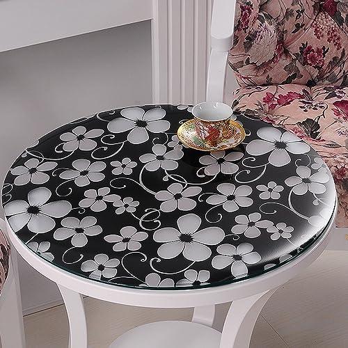 Küchenwäsche Panno Morbido In Cristallo Trasparente In Pvc, Impermeabile E Antifumo ( Farbe   Cymbidium 1.5mm , Größe   Round 140cm )