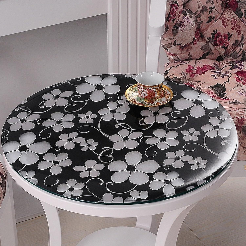linge de cuisine Panno Morbido Dans Cristallo Trasparente Dans Pvc, Impermeabile E Antifumo ( Couleur   Cymbidium 1.5mm , taille   Round 70cm )