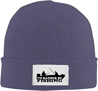I'd Rather Be Fishing Winter Warm Knit Beanie Black