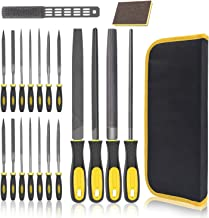File Set 18 PCS,Wooden Hand Tool Set for Woodwork Files DIY T12 Drop Forged Alloy Steel File Tool with Carrying Case