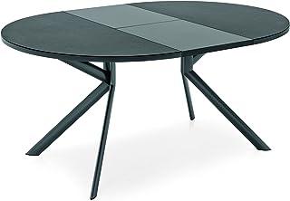 Connubia Giove 4leg (s) Maison Rond Table Extensible–Tables de Cuisine et Salle à Manger (Environ, Table Extensible, Gri...