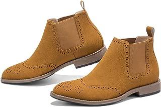 Men's Dress Boots Casual Lace up Cap Toe Boots