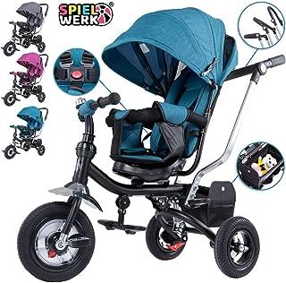 Spielwerk Tríciclo Ajustable Azul para Bebes y niños con