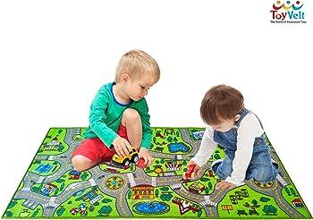 ToyVelt Kids Carpet Playmat Car Rug