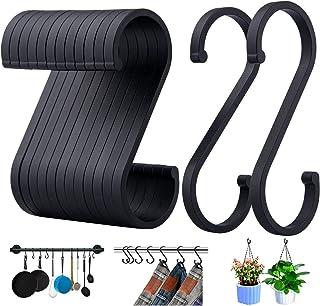 ACMETOP S haken, set van 12 S-vormige haken, S haken voor hangende potten en pannen, planten, koffiekopjes, kleding, handd...