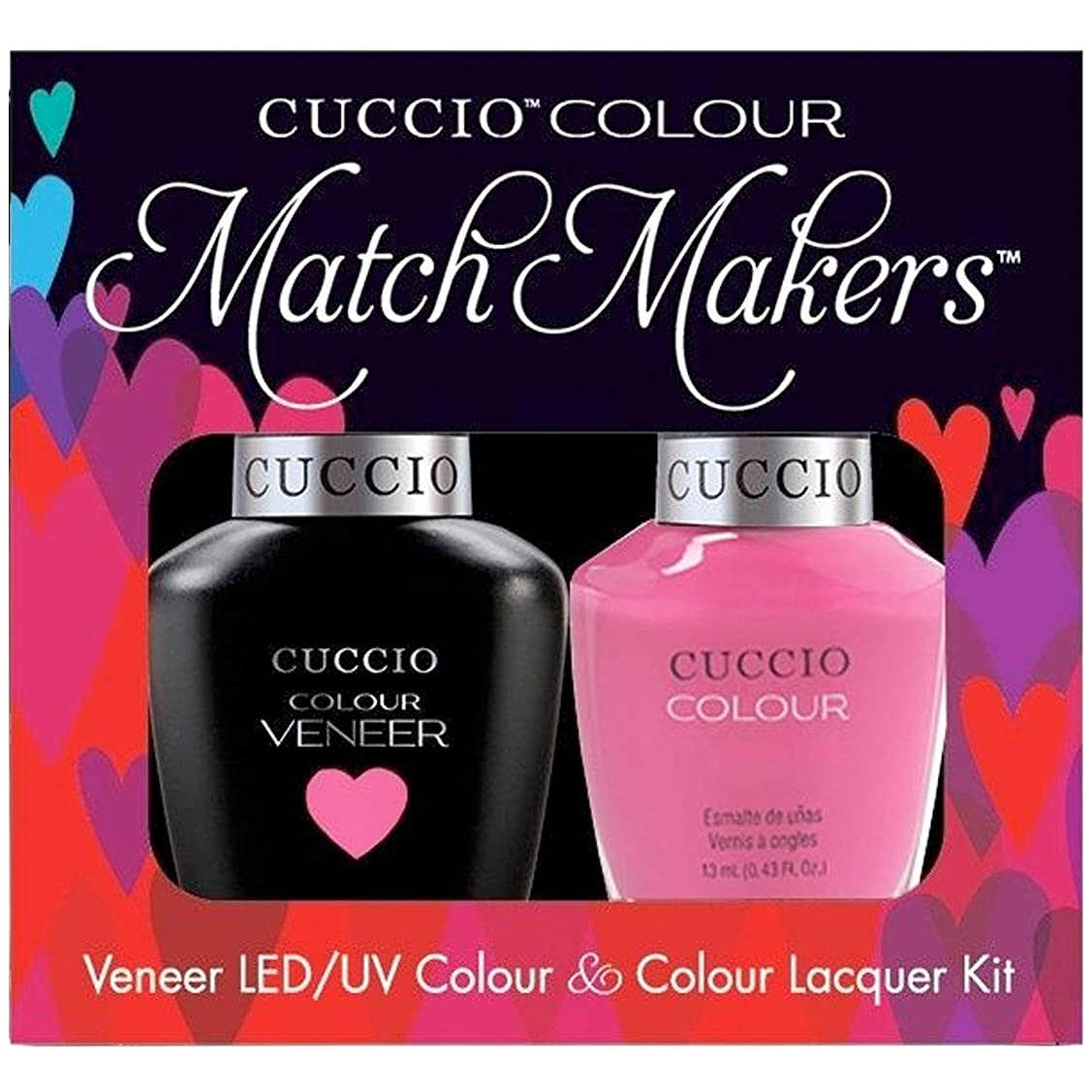 湿気の多い側溝ホースCuccio MatchMakers Veneer & Lacquer - Pink Cadillac - 0.43oz / 13ml Each