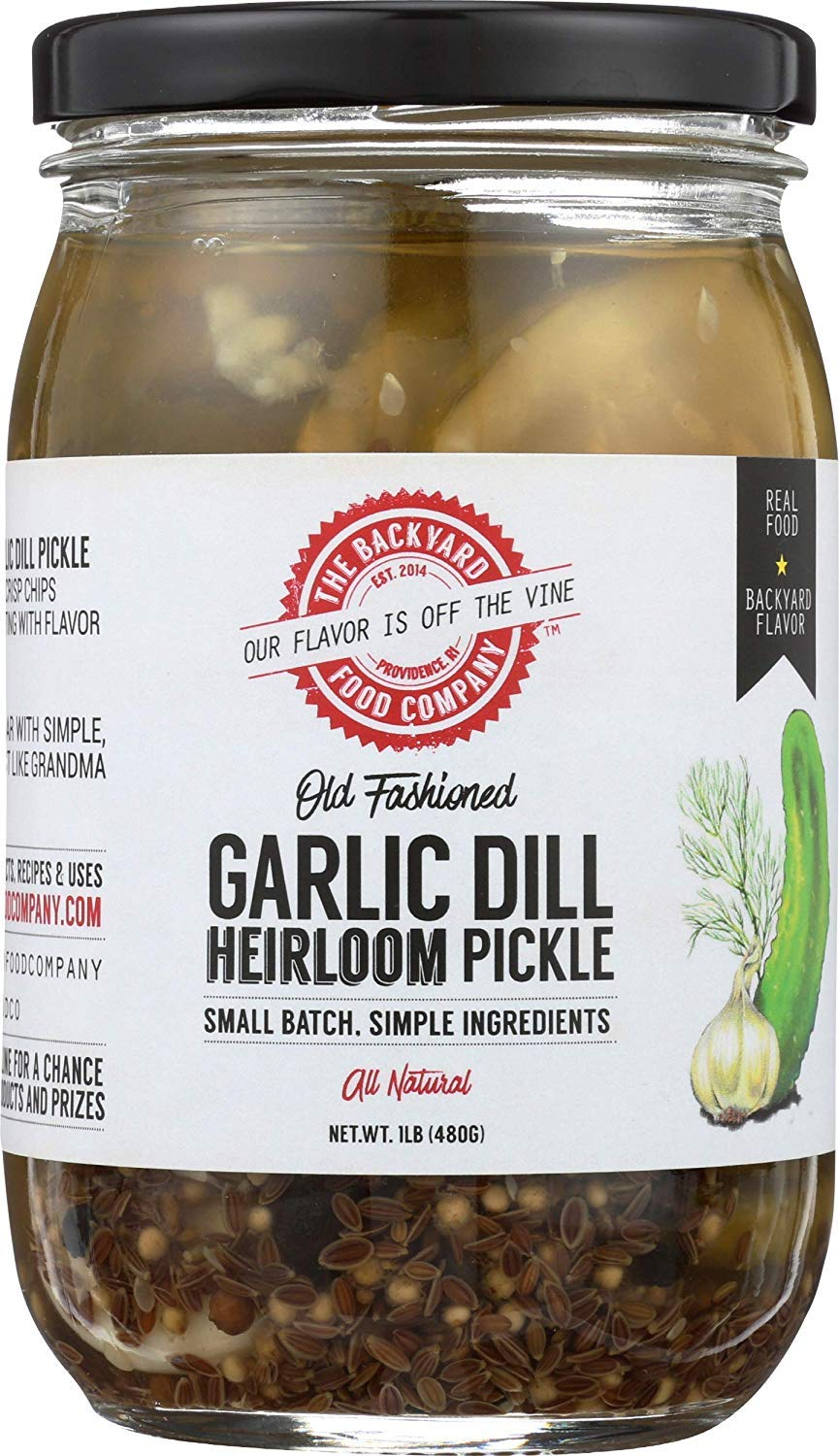 famous The Backyard Food Company Max 84% OFF Old Pickle Chip Dill Garlic Fashioned