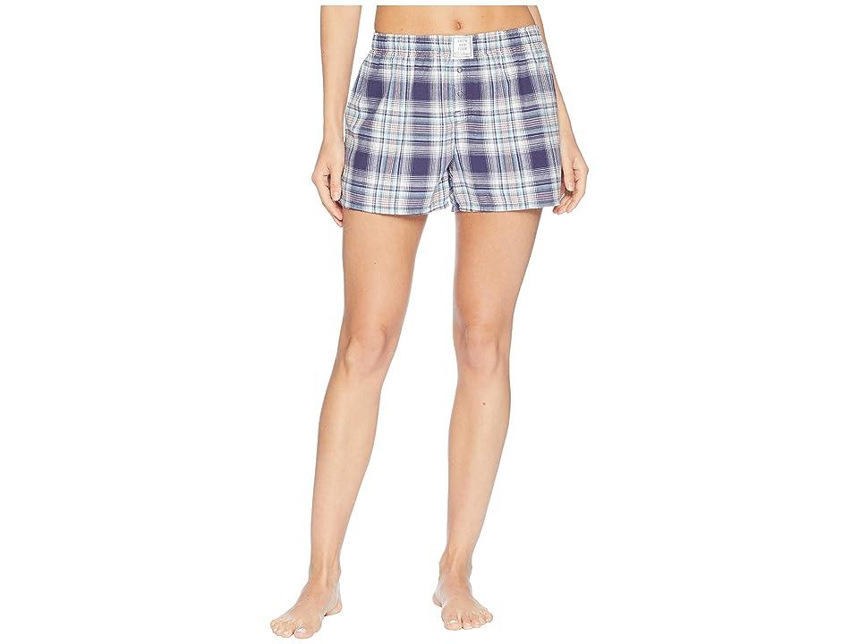 P.J. Salvage Plaid Please Shorts (Navy) Women