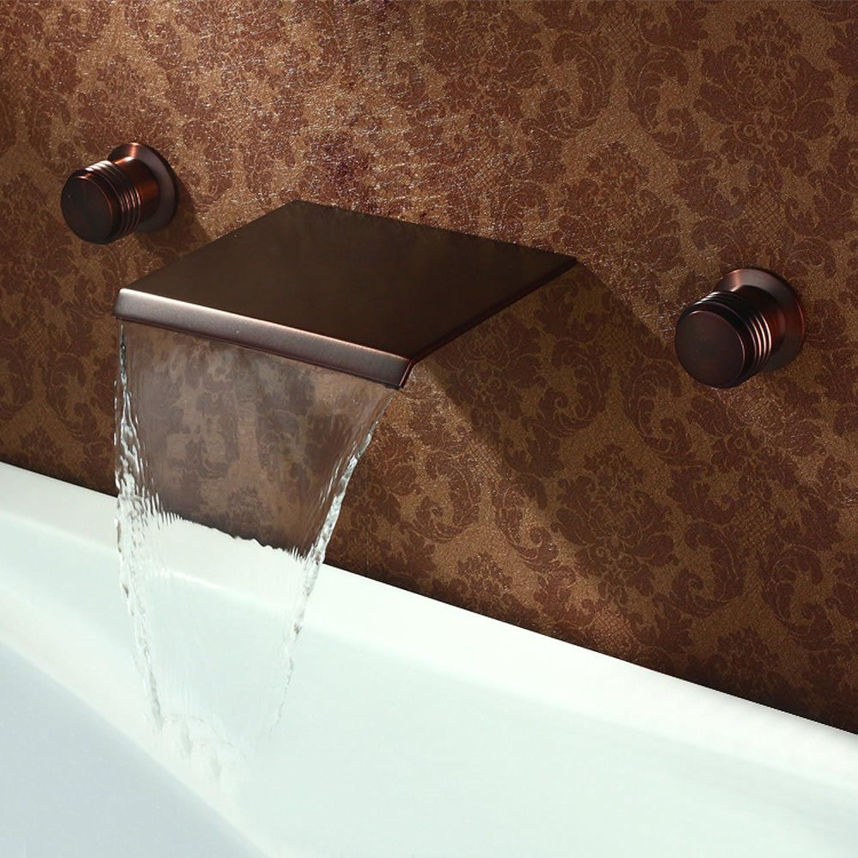 Retro Mode heier und kalter Wasserhahn Wasserfall im Wand Waschtischmischer