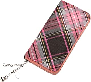 Clutch Bag Punched Perforare Hearts Pink With Strap Made With Pu by JOE COOL