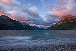 Sunrise over Lake Wallpaper Wall Mural - Self-Adhesive - Multiple Sizes - National Geographic Image from Magic Murals