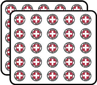 Round MT Bachelor SKI Patrol (or Oregon Mount Snow) Sticker for Scrapbooking, Calendars, Arts, Kids DIY Crafts, Album, Bullet Journals 50 Pack