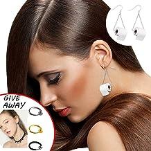 Silver Toilet Paper Roll Earrings, Women Funny Shape Dangle Hook Earrings Female Charm Jewelry.(Including gifts)