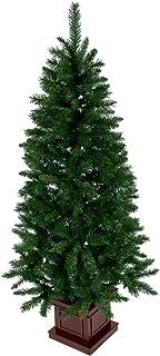 クリスマス屋 クリスマスツリー 180cm 木製ポットツリー スリム グリーン ツリーの木 ヌードツリー