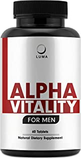 Alpha Vitality - Natural Male Enhancing Pills - Testosterone Booster for Men - Helps Increase Size, Improve Performance, Male Enhancement - Test Boost - Enlargement - 60 Pills