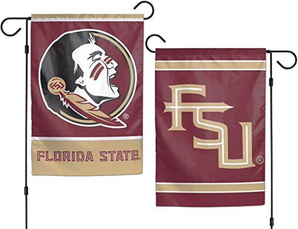 WinCraft NCAA Florida State University 12x18 Inch 2 Sided Outdoor Garden Flag Banner