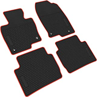 iallauto All Weather Floor Liners Custom Fit Mazda CX-5 CX5 2017 2018 2019 Heavy Duty Rubber Car Mats Vehicle Carpet Odorless-Black Red