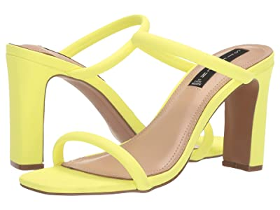 Steven Jersey Heeled Sandal (Yellow Neon) Women