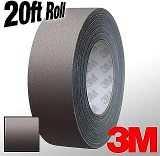 VViViD 3M 1080 Dark Grey Matte Vinyl Detailing Wrap Pinstriping Tape 20ft Roll (2 Inch x 20ft)