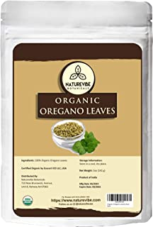 Naturevibe Botanicals Organic Oregano leaves, 5oz | Non-GMO and Gluten Free | Seasoning | Adds Flavor