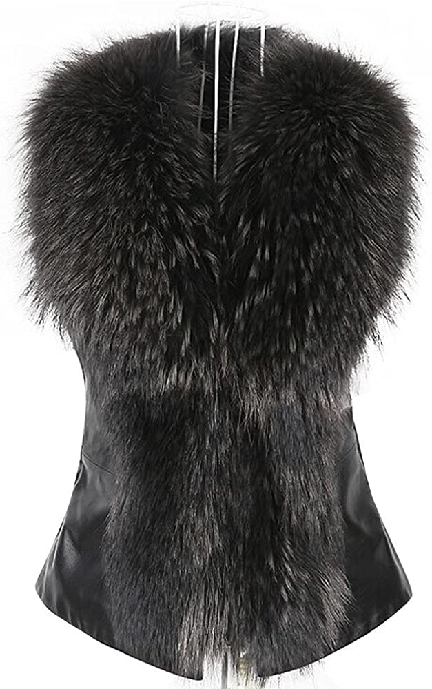 Kehen New Womens Faux Fur Vest Jacket Sleeveless Winter Body Warm Coat Waistcoat Gilet