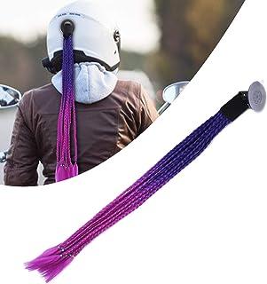 Tranças de capacete rabo-de-cavalo, capacete estilo punk, força de sucção forte com design de ventosa para quase qualquer ...