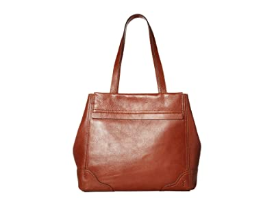 Frye Charlie Carryall Tote (Cognac) Handbags