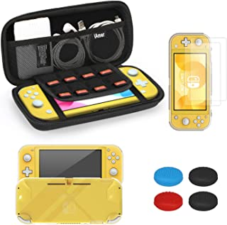 iAmer Accessories Kits for Nintendo Switch Lite 5 in 1, include Protective Carrying Case,TPU Protective Back Cover and 2pc...